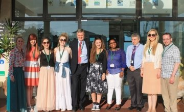 Meeting with EU delegates and the Irish Embassy in Mozambique. Photo taken by Saoirse Power, Brianna Walsh, Caoimhe Cummins and Beatrice Kelly.