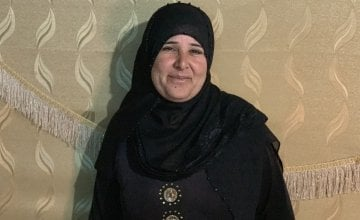 Nawal* is a 40-year-old mother of 11 who fled violence in Syria at the start of the crisis.  Photo: Jason Kennedy