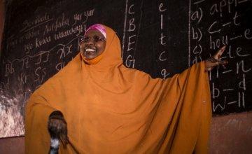 Rugiyo Mahamed Guhaad, a teacher at Jabuti school in Mogadishu. Concern Worldwide supports the school. Photo by Kieran McConville