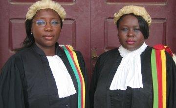 Vera Ngassa and Beatrice Ntuba, stars of Kim Longinotto's Sisters In Law