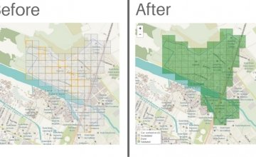Maps of Cité Soleil before and after the mapathon - all 106 green tiles have been validated.