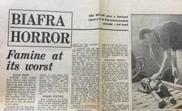 A news report from Des Mullan who twice visited Biafra to report on the crisis for the Evening Herald and the Irish Independent