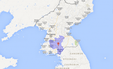 North Hwanghae Province in the Democratic People's Republic of Korea. Source: Google Maps