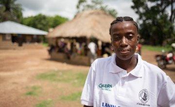 Concern's Ramatu S. Kamara pictured in Sierre Leone.