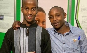 Abdirahman and Wilson from Kenya are in Dublin for the exhibition. Photo: Jason Kennedy/Concern Worldwide