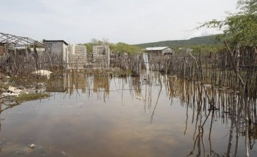 Flooding on La Gonave, Haiti, after Hurricane Matthew. Credit: Kristin Myers/Concern Worldwide