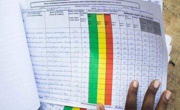 Survey form filled in by a community health worker. Photo: Irenee Nduwayezu/Concern Worldwide.