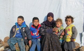 A family of Syrian refugees.