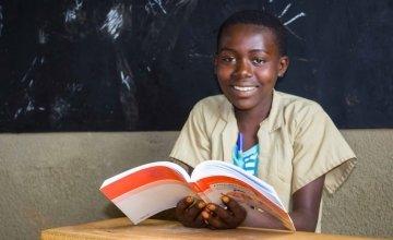 Grace is a Grade 6 student at Mpinga Primary School in Cibitoke, Burundi where Concern Worldwide has renovated the premises and awarded books to school children. Photo taken by Irenee Nduwayezu / Concern Worldwide.