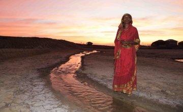 Rashida, tiger widow. Salinity along the coast has increased greatly from rising sea levels due to climate change. Photo: Mahmud / Map Photo Agency.