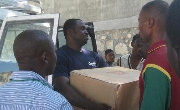 Concern staff member Jeanfrenel Tham in Haiti. Photo: Concern Worldwide.
