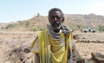 Tsesay Adse, a 68-year-old farmer from Tigray in Ethiopia.