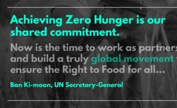 Achieving Zero Hunger is our shared commitment. Photo: Ban Ki-Moon.