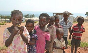 Burundian refugee children who are members of the Concern nutrition programme in Mahama camp, Rwanda. Photo: Donna Ajamboakaliza / Concern Worldwide.