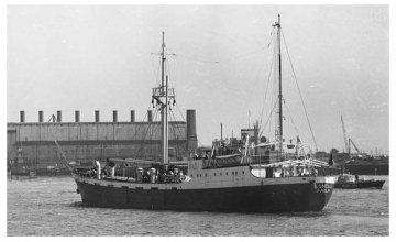 The Columcille sets sail for Biafra on 6 September, 1968. Photo: Concern Worldwide.