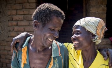 Smart Minezhi and his wife of 40 years Mage Smart from Malawi. Smart is a role model to a lot of families because of the way he supports his wife. Photo: Kieran McConville / Concern Worldwide.
