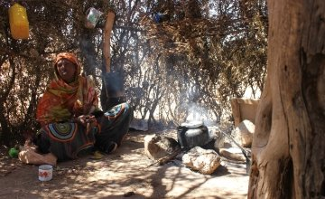 Somali native, Roda Mussa Mohamed at her home. Photo: Concern Worldwide.