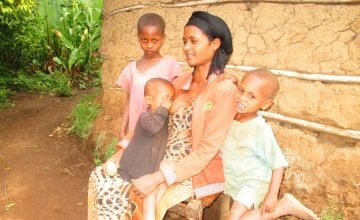 Woman pictured with her three children