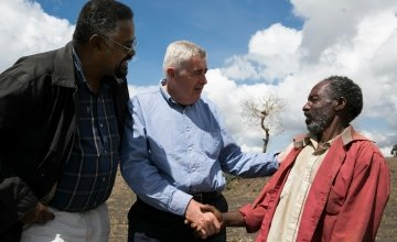 Dominic MacSorley meeting with beneficiaries in Ethiopia. Photo: David Hunn/Concern Worldwide.