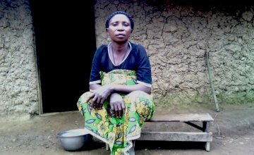 Mariamu lives with her four children in a village called Kweriba, just outside the Masisi centre. Photo: Ulua Popol/Concern Worldwide.