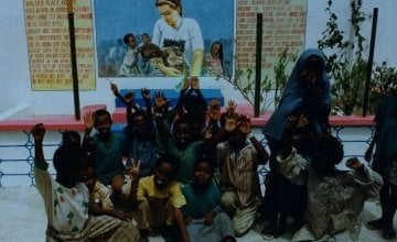 Mural in Mogadishu remembering Concern staff member Valerie Place who tragically lost her life there in 1993.
