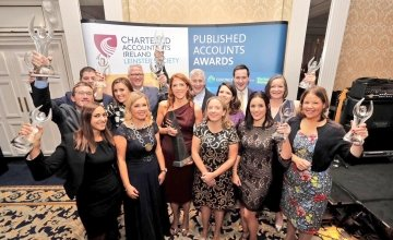 All winners of the Published Accounts Awards, including Concern CEO Dominic MacSorley (back row third in from left).