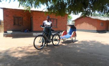 Agnes Chimbeleko is responsible for managing the ambulance usage in the in Nkhotakota district. Photo taken by Alice Gandiwa.