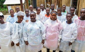 Concern Ebola clinic staff in Liberia. Photo: Concern Worldwide.