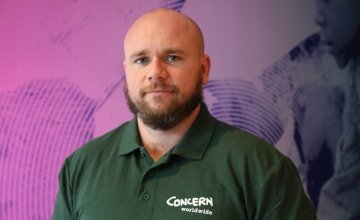 Concern Worldwide Emergency Programme Manager Mark Johnson (32) works in DRC where 13 million people need aid