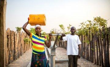 Administrators of the WASH Management Committee in Mande village, Manono, Tanganyika, Democratic Republic of Congo. Photo: Catherine Trautes / Concern Worldwide.