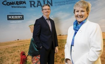 Left to right - Kerry Group Chief Executive, Edmond Scanlon and Concern Worldwide International Programme Director,Anne O'Mahony announce four-year project to  improve food security and nutrition in Niger.