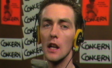 Paul Cleary of The Blades, who wrote Show Some Concern, singing in the video at Windmill Lane Studios, Dublin in 1985