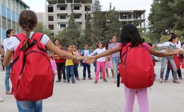 Children play at an education centre in south-eastern Turkey.
