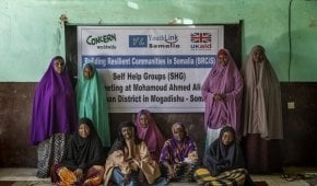 Local women attend community meeting in Mogadishu, Somalia, as part of a programme supported by UKAid. Photo: Marco Gualazzini/ Concern Worldwide.