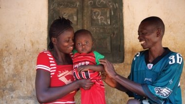 Alfred Kamara and family in Sierra Leone. Photo: Concern Worldwide