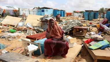 Asha lives in Baidoa and she is a victim of multiple forced evictions, 2019. Photo: Abdirisak Aden Ahmed / NRC.