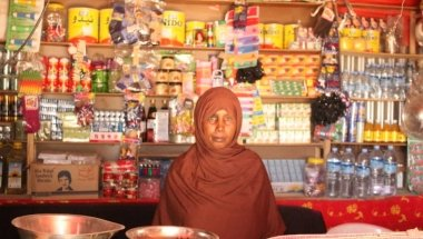 Halima is a member of one of the Self-Help Groups (SHGs) in Hargeisa, Somaliland. Photo: Ayanle Farah, FIM Project Officer, SDSC Programme / Concern Worldwide.