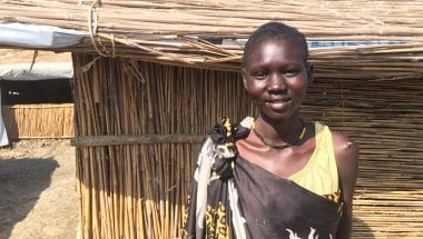 Maria, displaced by war, is a resident of Bentiu Protection of Civilan Camp in South Sudan. Photo: Concern Worldwide.
