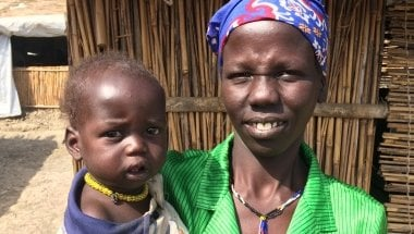 Nyadhial* with her eleven-month-old son, Gattuor*. Photo: Concern Worldwide.