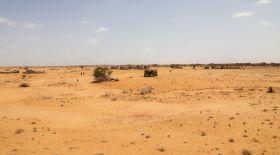 Arid landscape in Marsabit, Kenya.