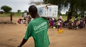 Concern staff work tirelessly at a nutrition clinic in South Sudan