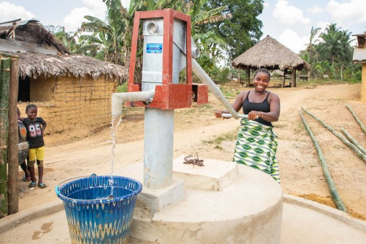 Concern installed this well recently and it's already having a positive impact on the Toe Town, Liberia