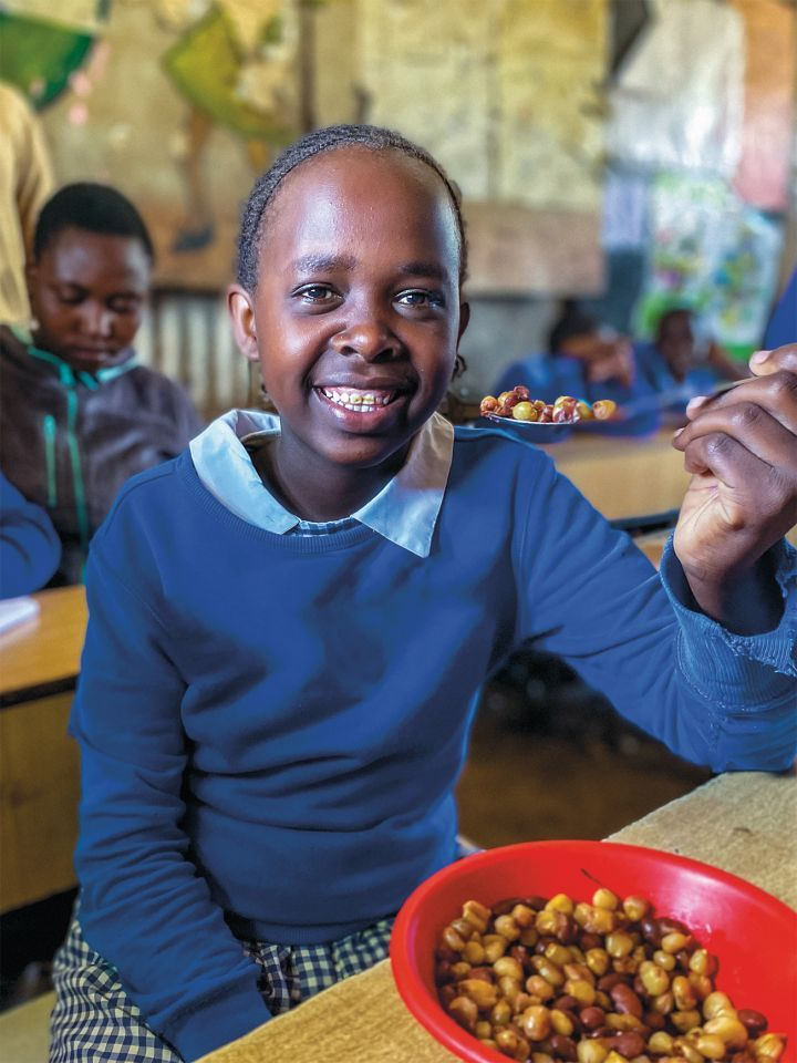 Every student at the Gatoto Community School in Nairobi gets a daily meal, thanks to Concern. Photo: Jennifer Nolan / Concern Worldwide