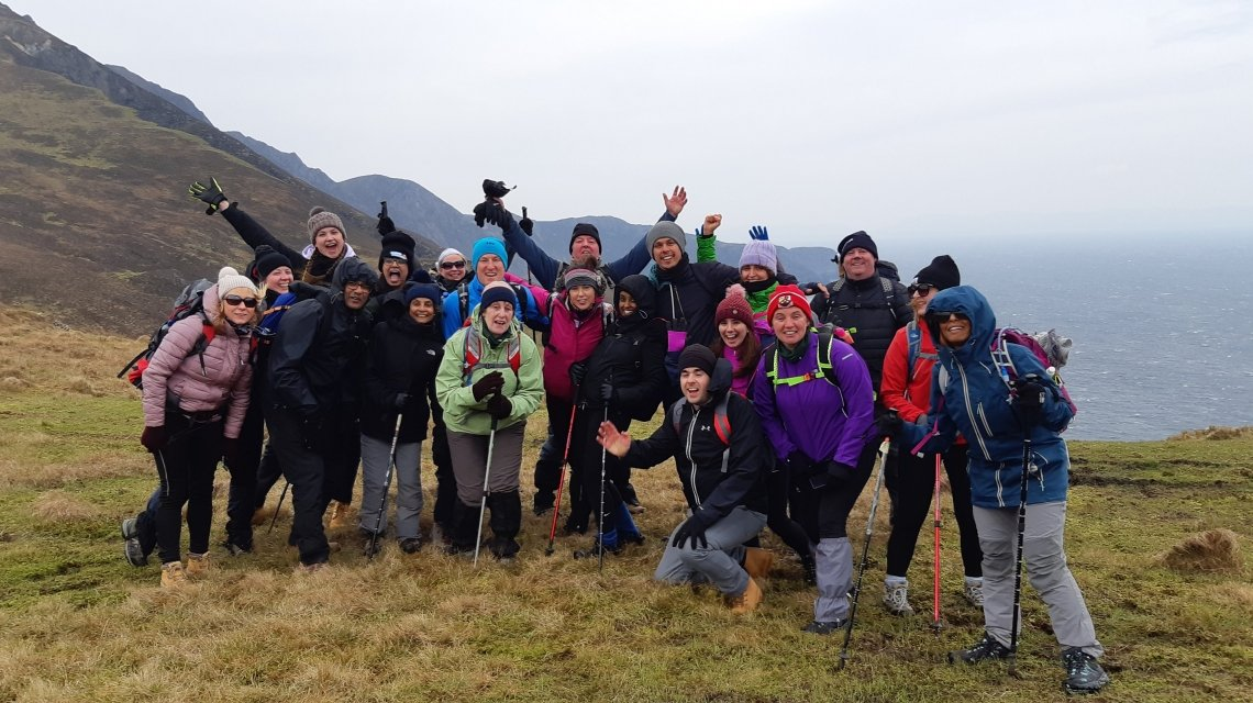 Concern Challengers on the Donegal hike. Photo: Concern Worldwide.