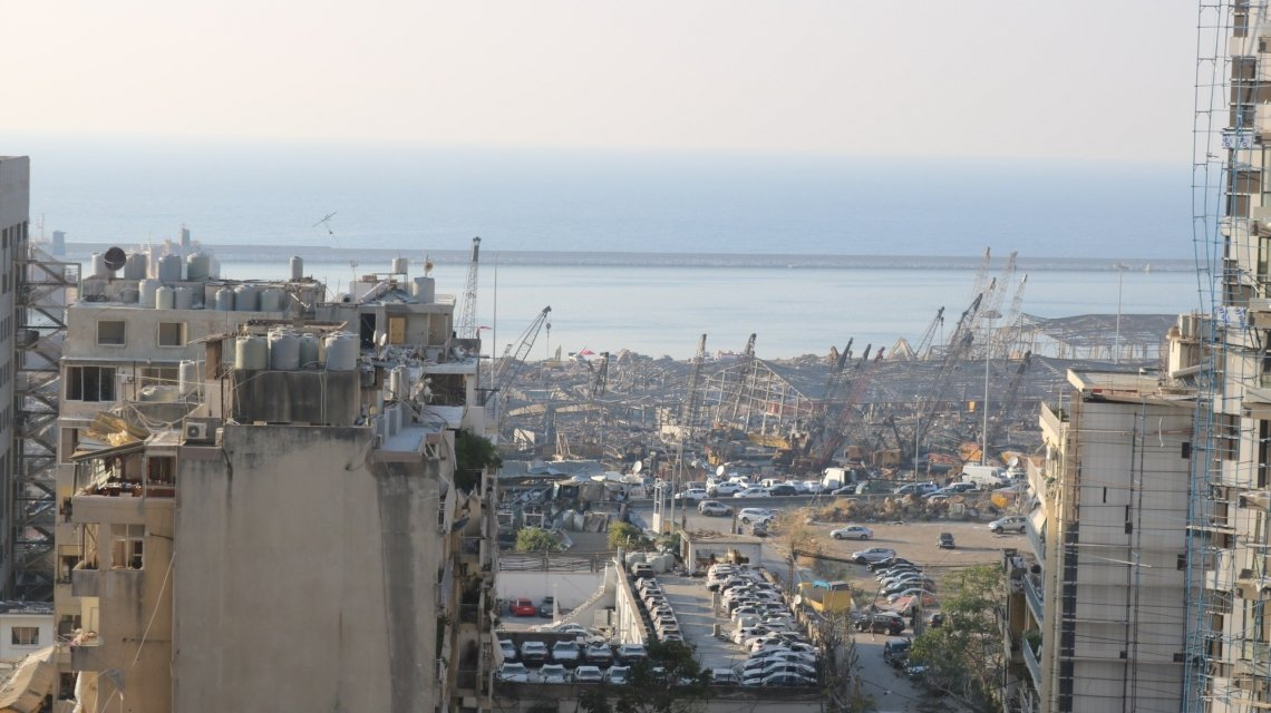 Destruction in the city of Beirut following the port blast on 4th August 2020. Photo: Jade Van Huisseling