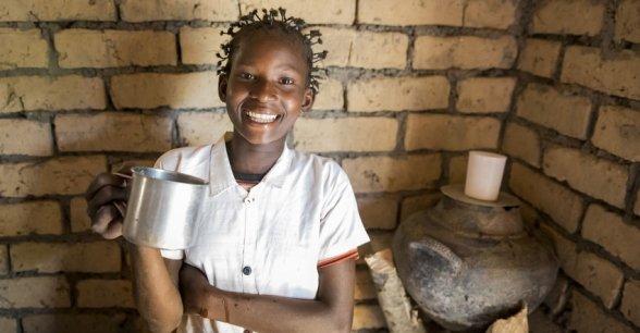 15 year old Liliana Mwenza wa llunga from Mulombwa, DRC who has benefited from Concern's WASH programmes. Photo: Concern Worldwide.