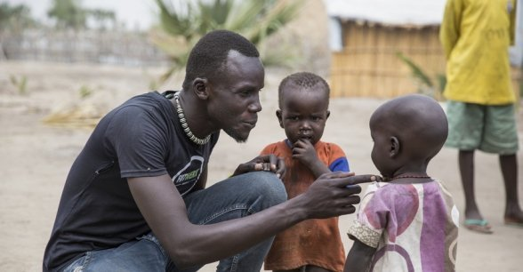 *Aaden is a Nutrition Nurse with Concern's South Sudan partner, Nile Hope. Photo: Concern Worldwide.