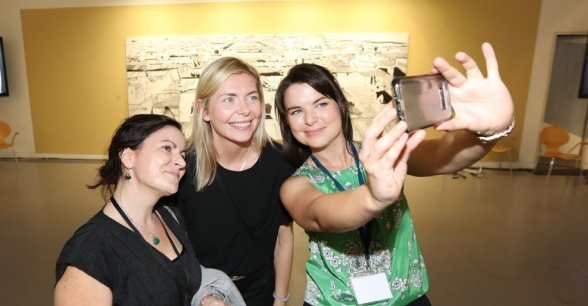 Concern staff pictured at opening reception of the Brian Maguire Exhibition. Photo: Photocall Ireland/Concern Worldwide.