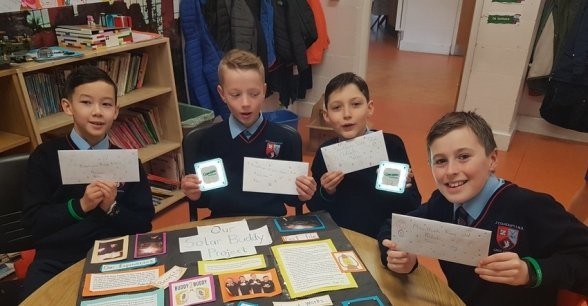 Students from St Colmcilles Senior School taking part in Solar Buddies. Photo: Claire Marshall / Concern Worldwide.