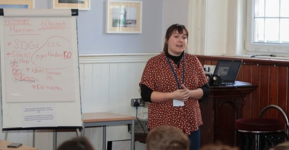 Pupils from secondary schools across Ireland, take part in a gender equality workshop in Dublin. Photo Concern Worldwide.